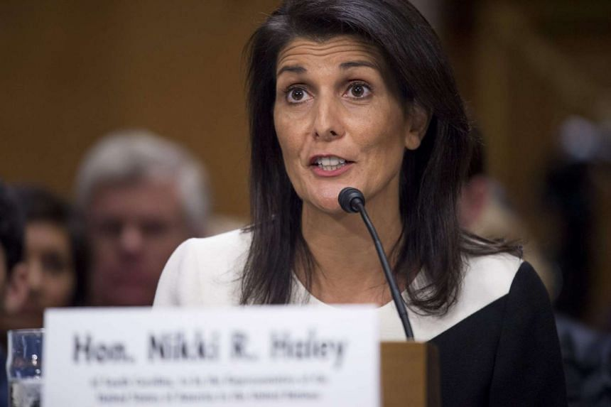 South Carolina Governor Nikki Haley testifies during her confirmation hearing for US Ambassador to the United Nations (UN) before the Senate Foreign Relations committee on Capitol Hill in Washington, DC, on Jan 18, 2017.