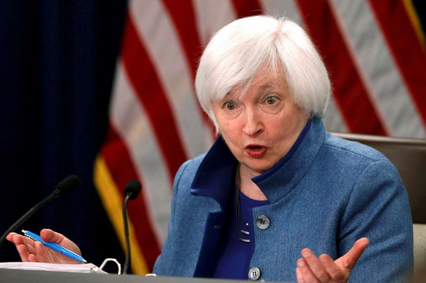 Federal Reserve Chair Janet Yellen holds a news conference following day two of the Federal Open Market Committee (FOMC) meeting in Washington, US on Dec 14, 2016.