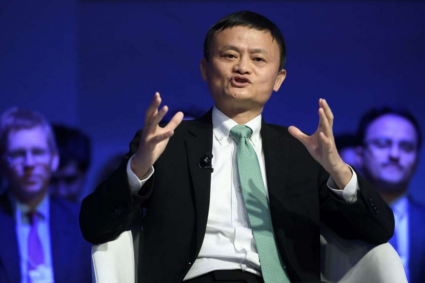 Alibaba Group Founder and Executive Chairman Jack Ma speaks during a panel session on the second day of the World Economic Forum, on Jan 18, 2017 in Davos.
