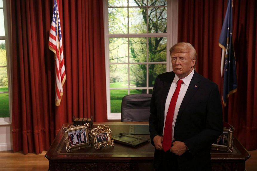 A waxwork of US President-elect Donald Trump is displayed during a media event at Madame Tussauds in London, Britain.