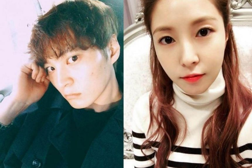 A South Korean media outlet reported that Joo Won (left) and BoA met through mutual friends at a networking event, and that they have been seeing each other since the end of last year.
