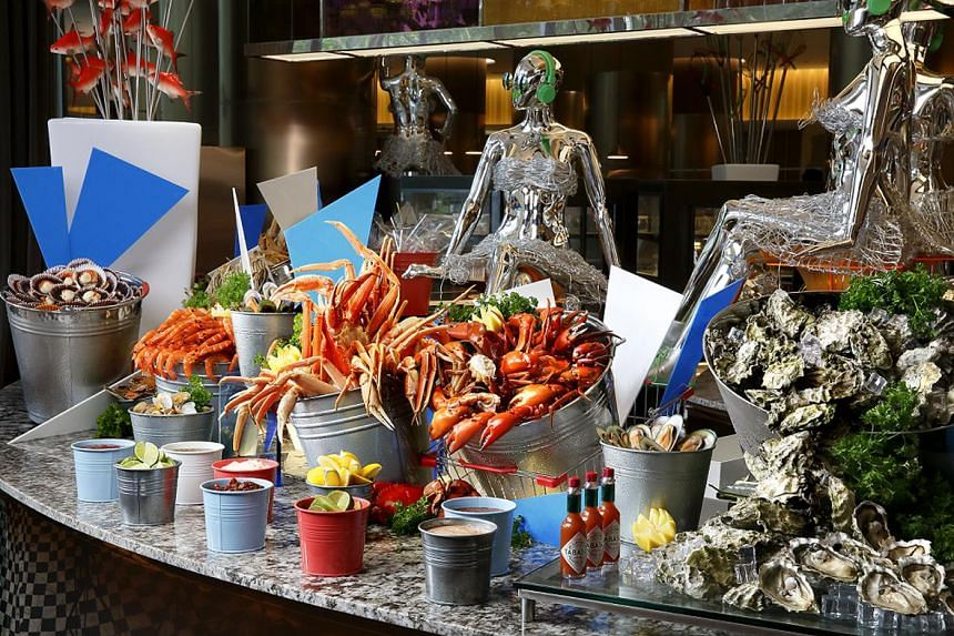 Seafood section at dining buffet restaurant Food Capital.