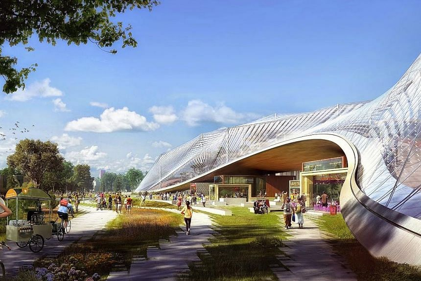 Local firm DP Architects, which was part of the design team for the Esplanade (above) and Singapore Flyer, has tied up with British firm Grimshaw Architects, and is believed to be one of the front runners for the coveted job. An artist's impression o