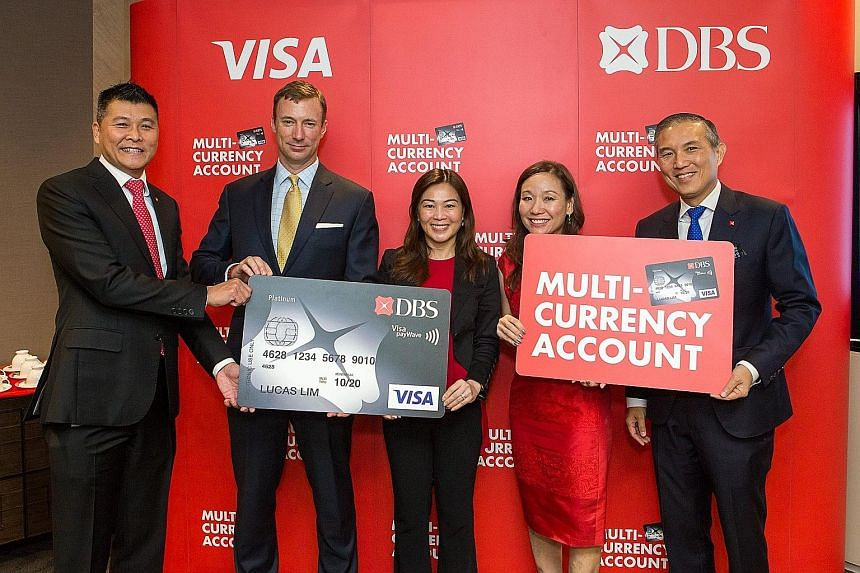 From left: DBS head of cards and unsecured loans Anthony Seow, Visa group country manager for regional South-east Asia Tolan Steele, Visa country manager for Singapore and Brunei Ooi Huey Tyng, DBS head of deposits and secured loans P'ing Lim and DBS