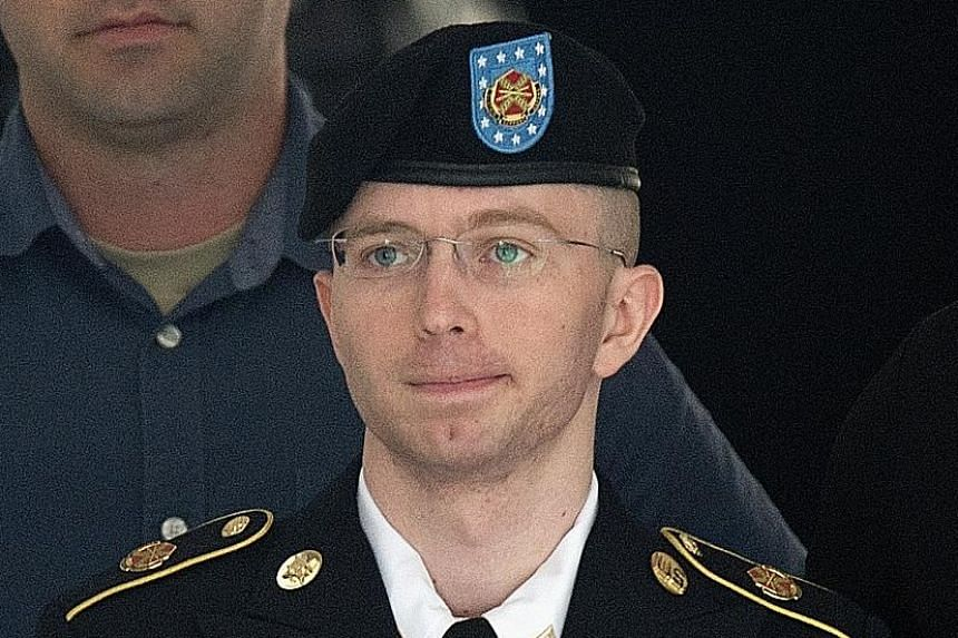 Formerly known as Bradley Manning (above), Chelsea (left) revealed after being convicted of espionage that she identifies as a woman.