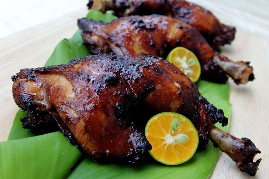 Roasted assam chicken.