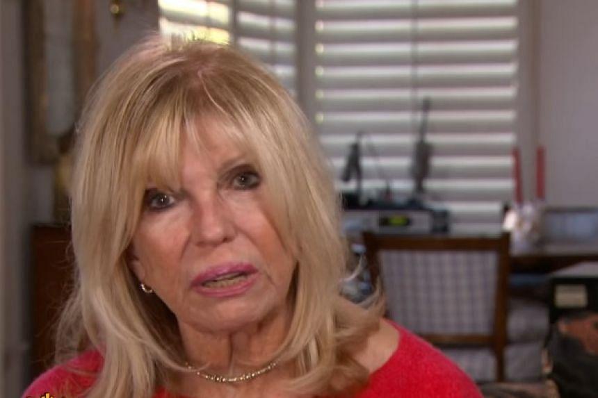 Nancy Sinatra in a screenshot from a CBS TV news interview.