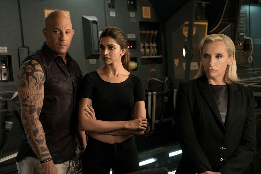 Striking a pose in xXx: Return Of Xander Cage are (from far left) Vin Diesel, Deepika Padukone and Toni Collette.