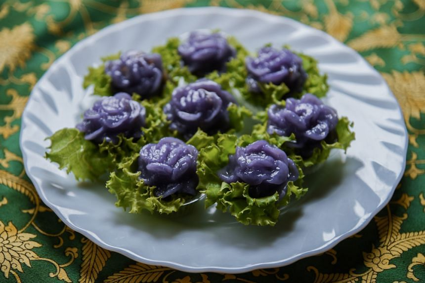 Chor Muang. The purple colouring comes from the extract of the butterfly pea flower.