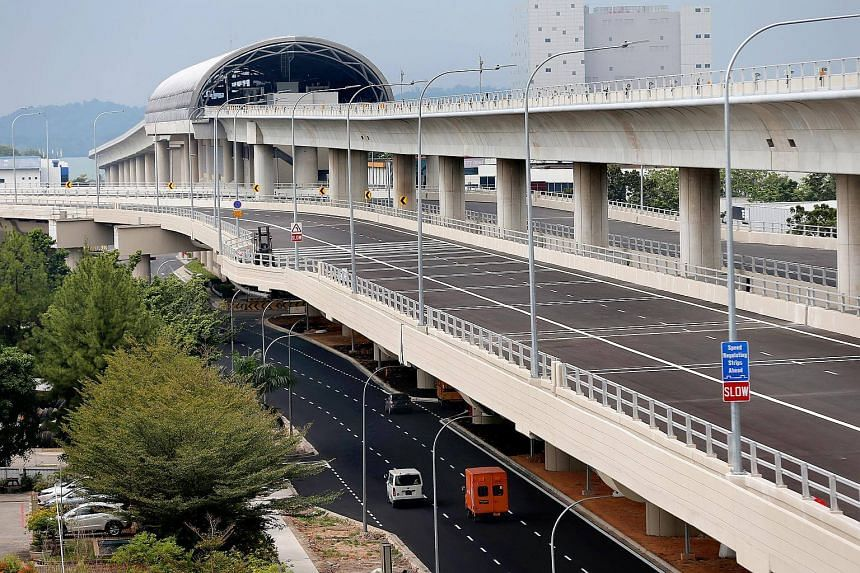 Update on construction works on Tuas Viaduct.