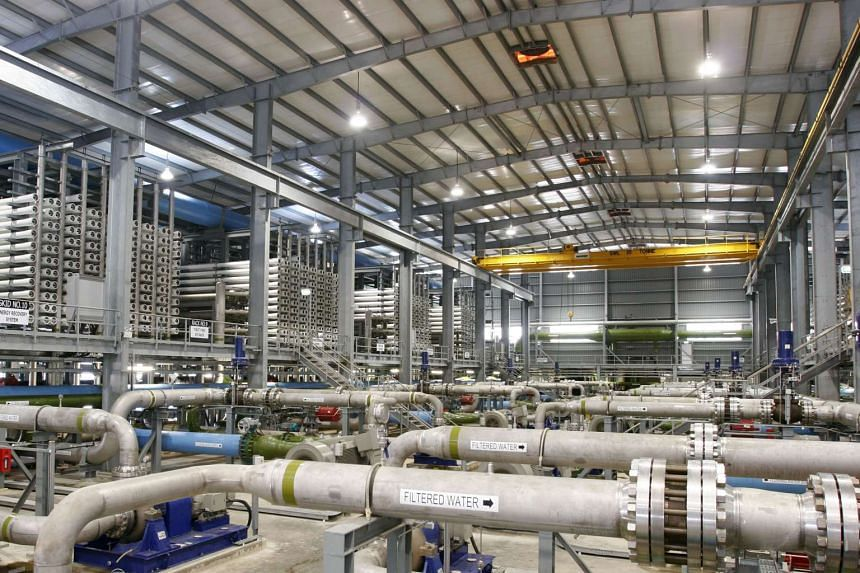Singapore's first desalination plant – the $200m SingSpring plant at Tuas – produces 30 million gallons of fresh water daily.