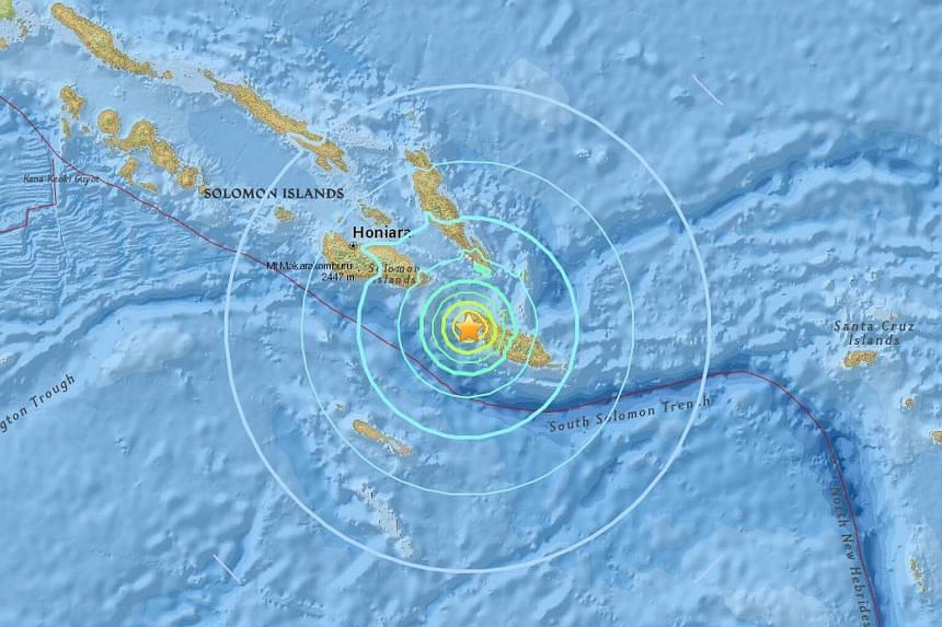 A 6.8-magnitude earthquake hit off the Solomon Islands on Friday (Jan 20).