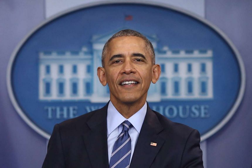 """Obama said Americans had been for him a source of """"goodness, resilience and hope from which I've pulled strength""""."""