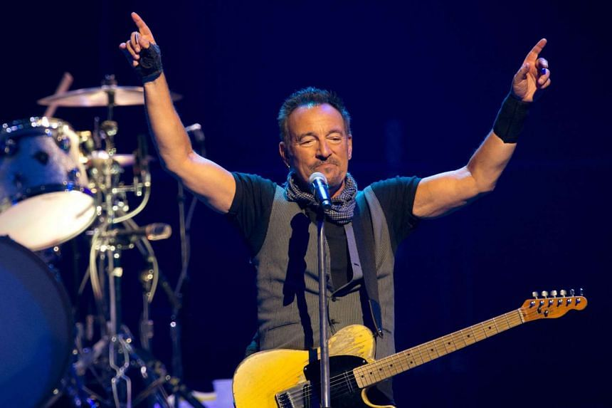 Springsteen performs with The E Street Band in Paris in July 2016..