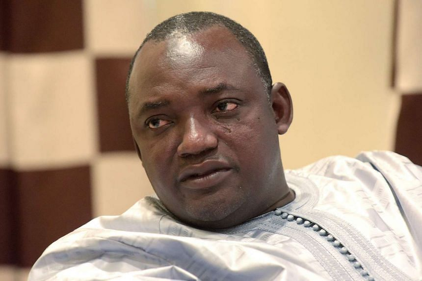 Gambian president-elect Adama Barrow speaking during an interview in Banjul on Dec 12, 2016.