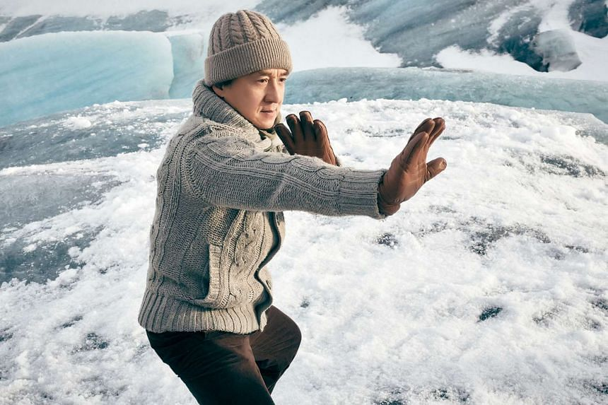Jackie Chan in Iceland for the shooting of his movie Kung Fu Yoga, which opens here on Jan 27, 2017.