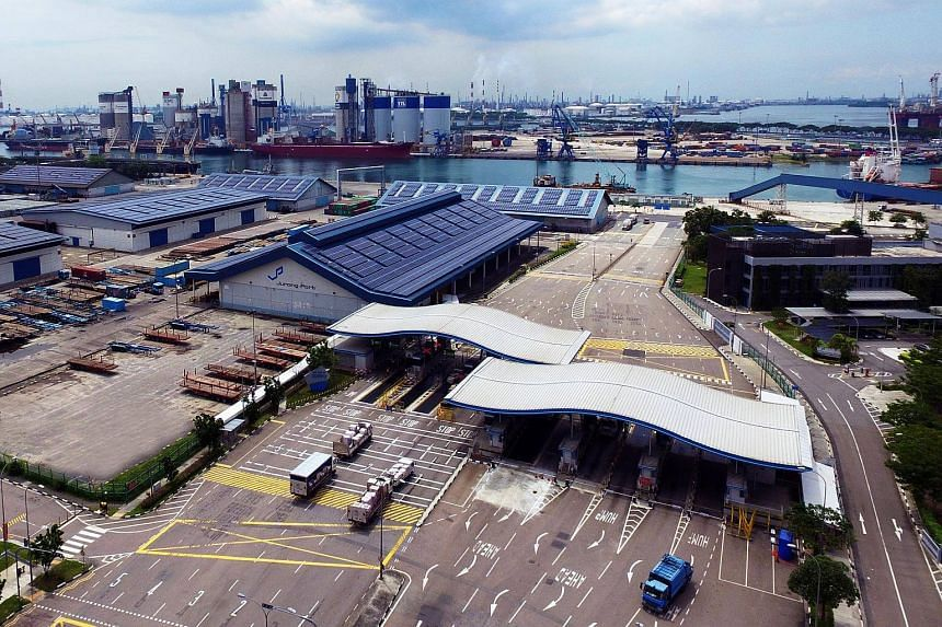 Jurong Port, a multipurpose port, is Singapore's main gateway for general and bulk cargo, such as cement, steel and MRT trains.
