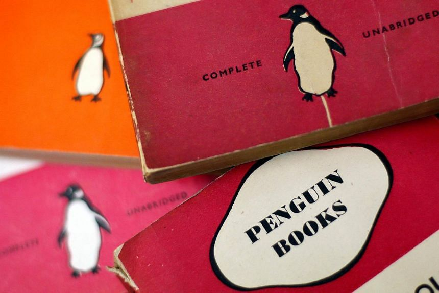 Penguin books are seen in a used bookshop in London, Britain.