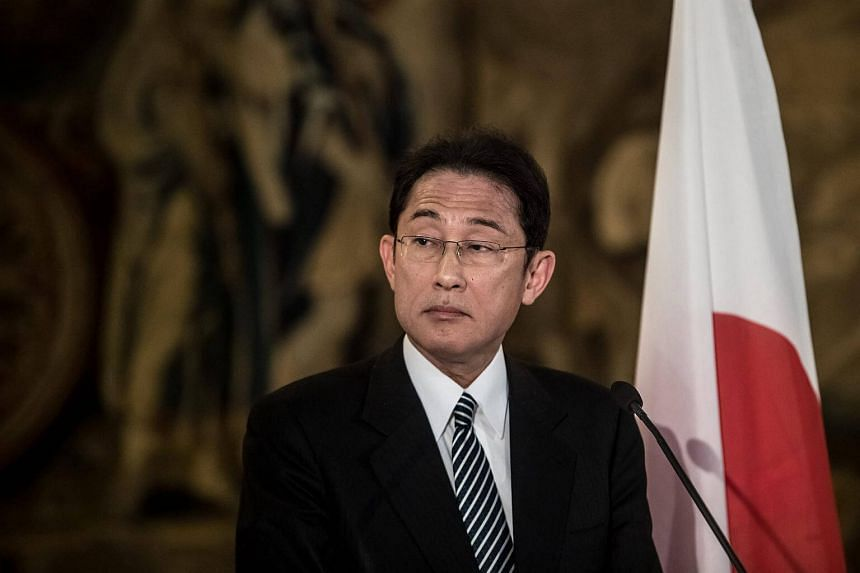 Japanese Foreign Minister Fumio Kishida looks on during a press conference following his meeting in Cernin Palace, Prague, Czech Republic on Jan 8, 2017.
