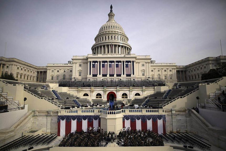 "A cross-strait row has broken out over the presence of a Taiwanese delegation at the US presidential inauguration, with Taiwan telling China not to be so ""narrow-minded""."