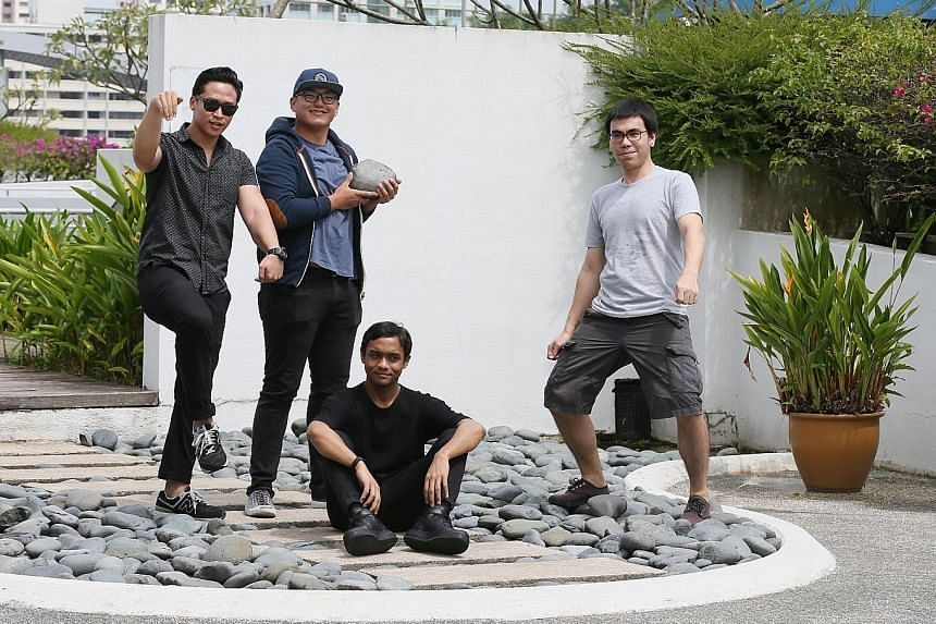 Members of T-Rex (from left) Junaidi Kusnong, Bryan De Rozario, Ahmad Khaliq and Axel Serik will release their debut album, Volume 1, at Laneway.