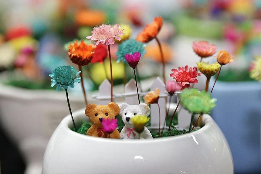 Frozen flowers