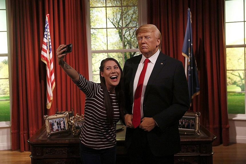 At London's Madame Tussauds, Mr Trump's wax figure – placed in a mock-up of the White House's Oval Office – is expected to be a hit with tourists.
