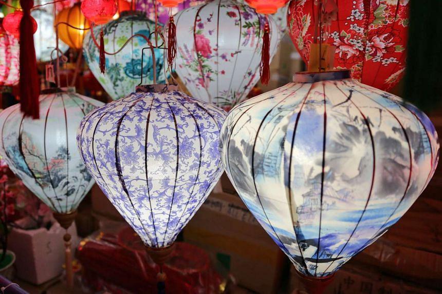 Diamond-shaped lanterns