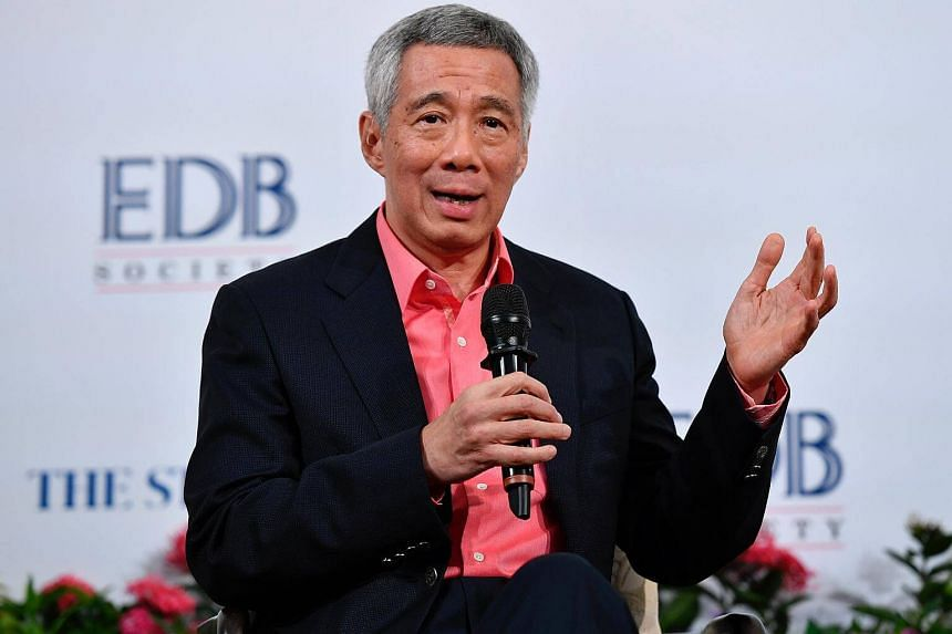 PM Lee Hsien Loong speaking at a dialogue organised by the EDB Society and The Straits Times, on Jan 20, at the Arts House.