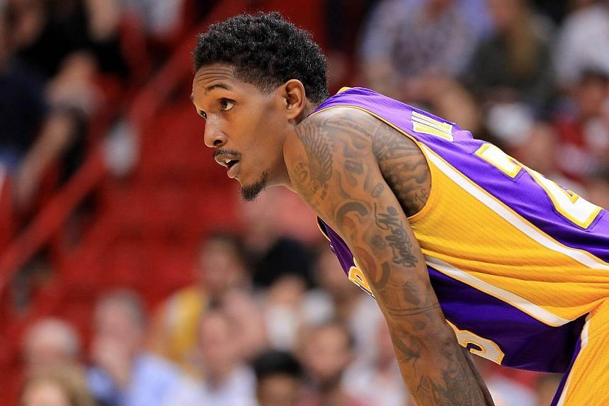 Louis Williams of the Los Angeles Lakers looks on during a game against the Miami Heat at American Airlines Arena on Dec 22, 2016, in Miami, Florida.