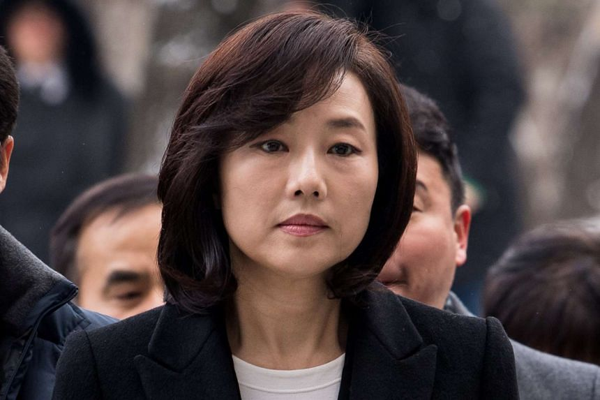 South Korea's Culture Minister Cho Yoon Sun arrives at the Seoul Central District court in Seoul, South Korea on Jan 20, 2017.