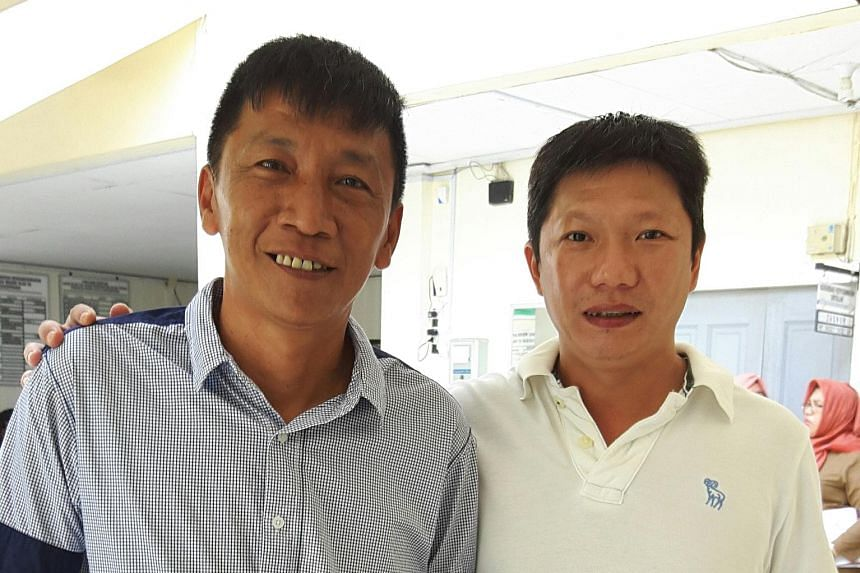 Shoo (left, with a friend) was found guilty on Tuesday and ordered to pay a50 million rupiah fine or serve five months' jail in lieu of the fine.