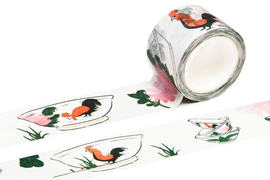 Rooster bowl washi tape.
