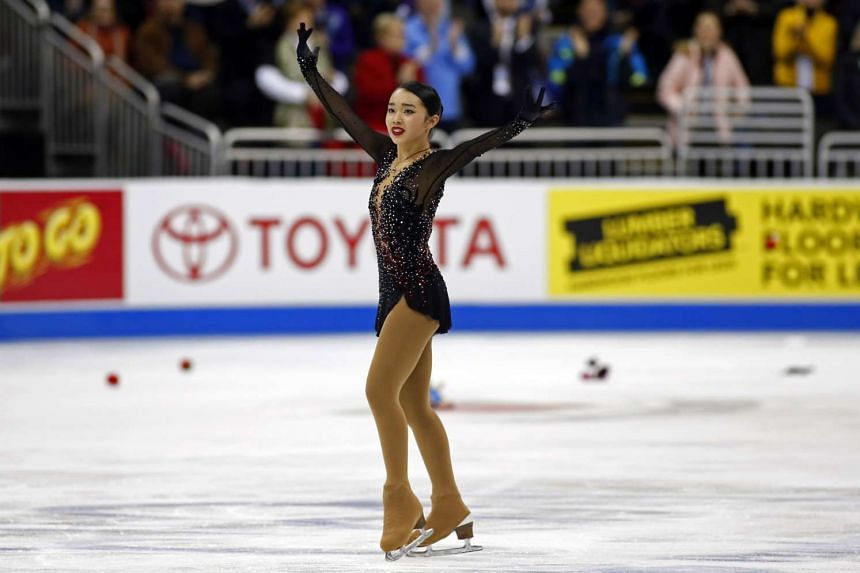 Teenager Karen Chen (above) claimed her first national title in Kansas City on Jan 22, 2017.