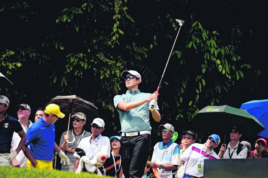 Quincy Quek of Singapore at this week's SMBC Singapore Open. Quek and other local golfers do not have the benefit of a strong domestic tour, according to Mardan Mamat.