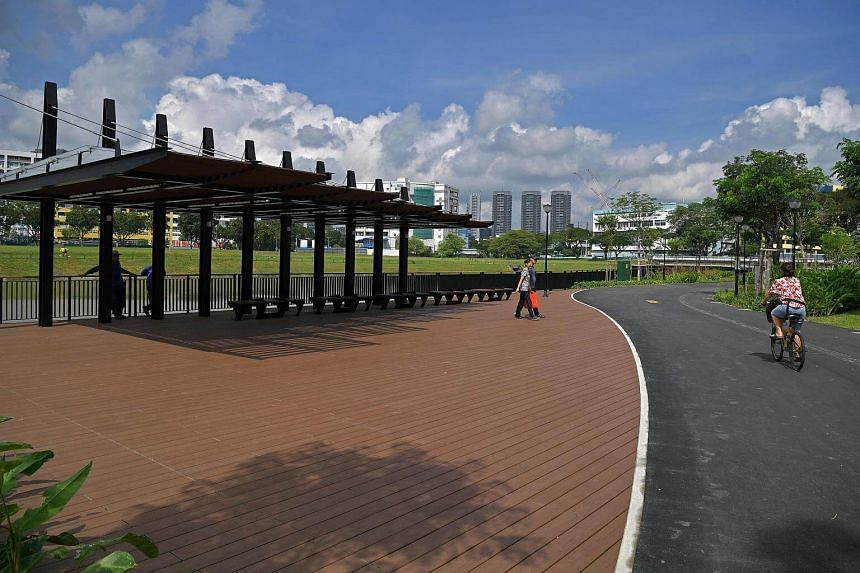The 320m stretch of the Kallang River has been revitalised with a new and enhanced promenade where residents can jog, cycle and even hold gatherings.