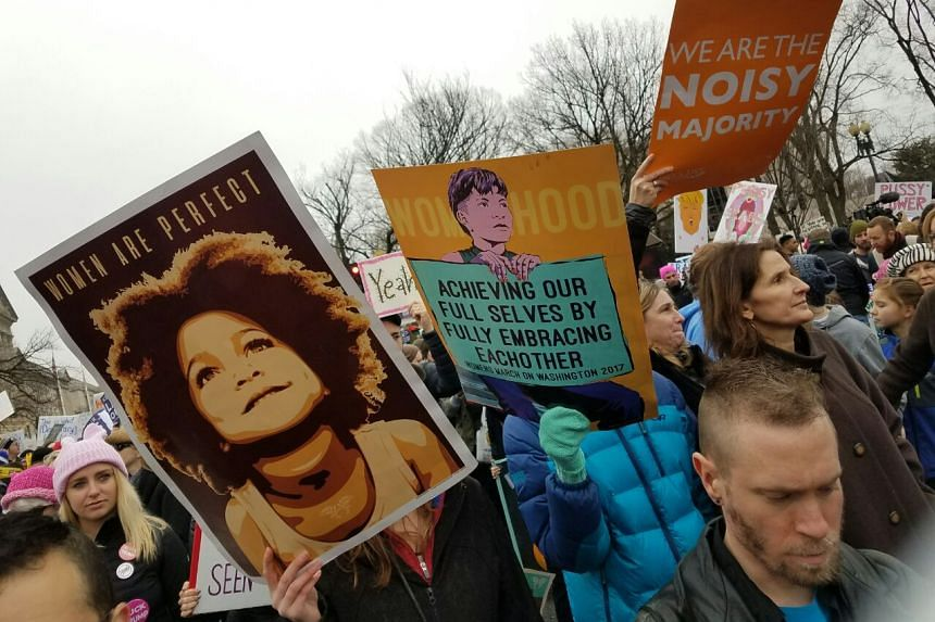 Protesters sent out a resounding message of resistance and activism the day after Trump took office.
