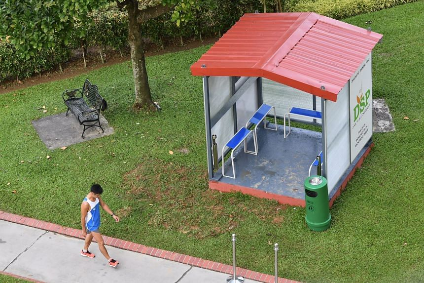 One of the 50 designated smoking points that will be launched at Nee Soon South by the end of 2017.