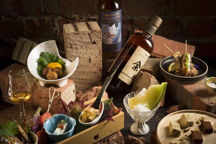 Whisky and sumiyaki pairing sets start from $49. The sumiyaki omakase is $96 (minimum order for two people, above) while the chef's omakase with whisky is $168 (above).