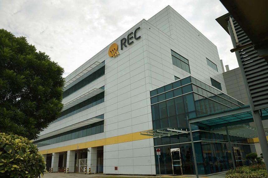 File photo of the REC Solar Manufacturing Facility at 20, Tuas South Avenue 14.