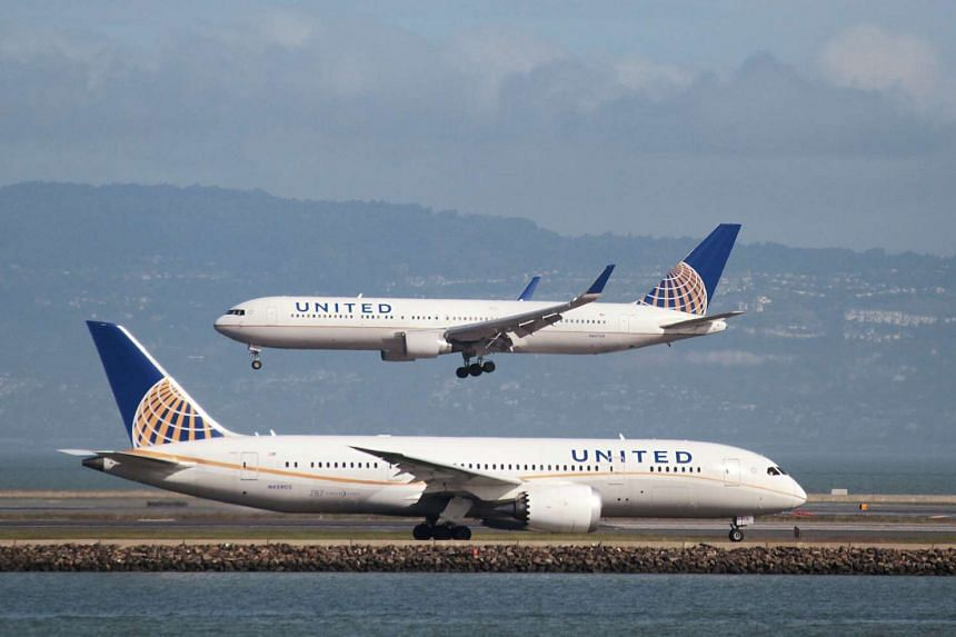File photo of United Airlines planes at San Francisco International Airport in California, US.