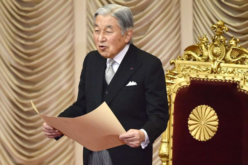 Japanese law currently does not allow an emperor to give up the throne, but Emperor Akihito, 83, said in rare public remarks last August that he feared age might make it hard for him to fulfil his duties.