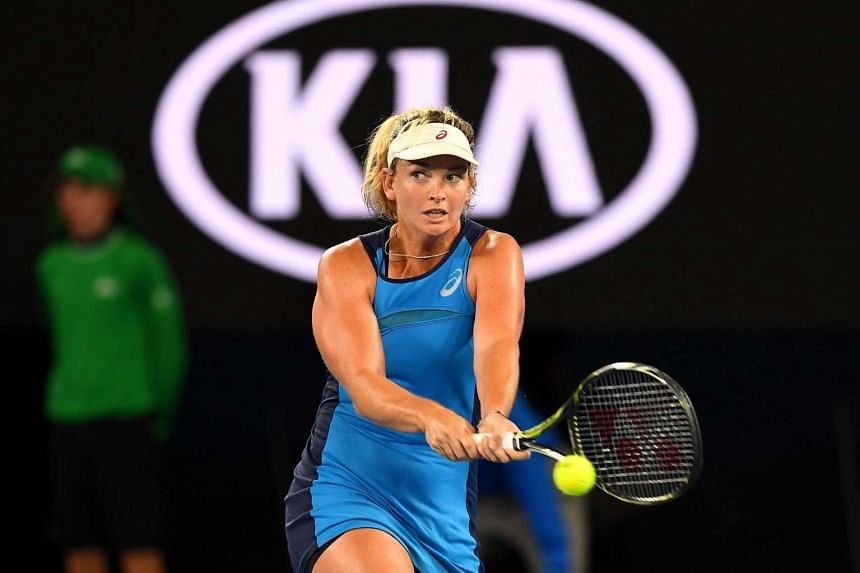 Coco Vandeweghe blasted six aces and 30 winners to overpower Angelique Kerber to reach the quarter-finals for the first time.