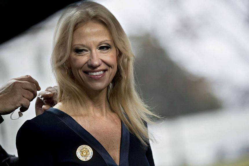 Kellyanne Conway, senior advisor to U.S. President Donald Trump, smiles before a television interview outside the White House in Washington, D.C., US, on Jan 22, 2017.
