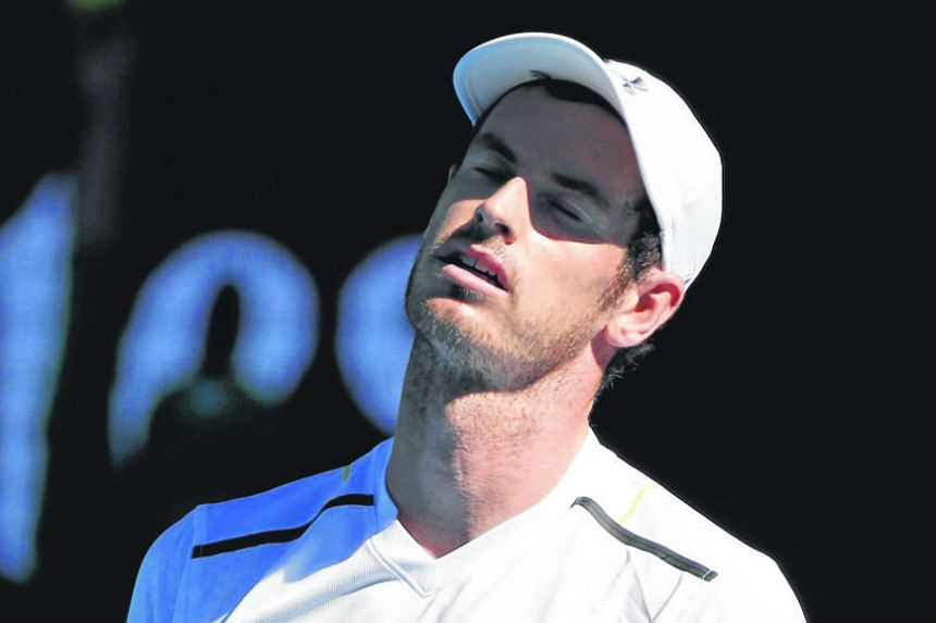 World No. 1 and Australian Open top seed Andy Murray, seen reacting to a point, was at pains to explain his loss in the round of 16. The early exit of Novak Djokovic appeared to have paved a path for the Scot to win a first Grand Slam in Melbourne, b