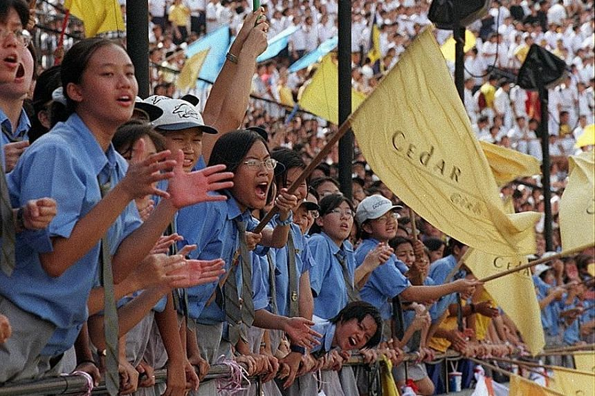 Cedar Girls' Secondary School students at the 1998 National Inter-School Track and Field Championships at the National Stadium. Above: Athletes from Cedar Girls' Secondary at a recent training session. In the almost 50 years since 1968, the school ha