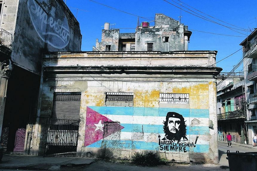 Che Guevara murals are ubiquitous throughout Cuba. This one is in Havana.