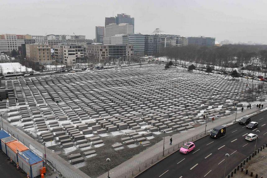 Berlin's Holocaust Memorial is shown in a photo taken on Jan 18, 2017.