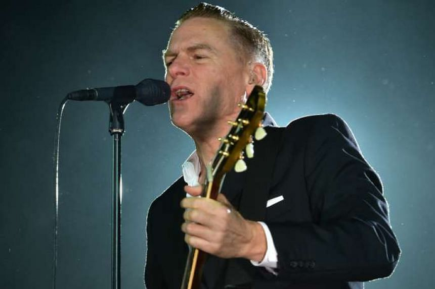 Absence forgiven: Rocker Bryan Adams (above) covered 30 songs in a gig that lasted more than two hours.