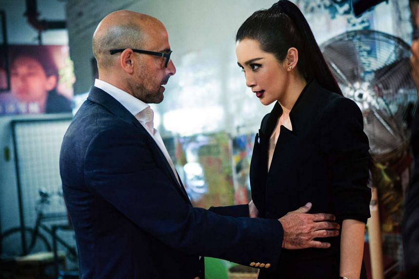 Li Bingbing (above right, with Stanley Tucci) in Transformers: Age Of Extinction.